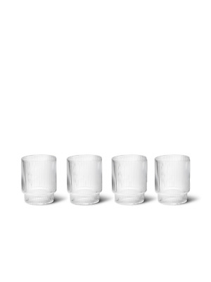 AU40 • Buy Ferm Living Ripple Glasses Tumblers Set Of 4 - Clear (First Layer Set)