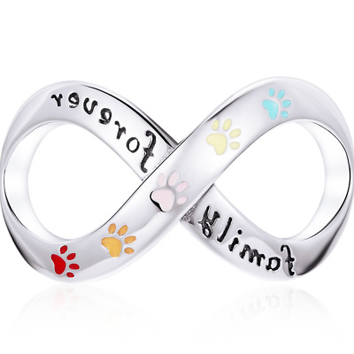 AU24.99 • Buy Sterling Silver Family Forever Pet Claw Infinite Love Charm Original Design