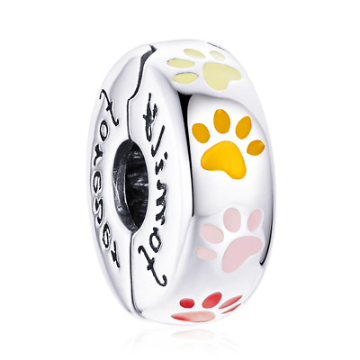 AU27.99 • Buy Sterling Silver Family Forever Pet Claw Clip Stopper Charm Original Design