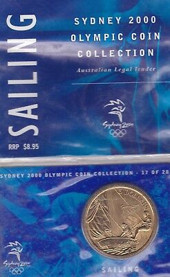 £9.95 • Buy 2000 Uncirculated Sydney Olympic Coin $5 Dollar Pack SAILING J14