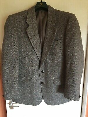 $29.35 • Buy Harris Tweed Jacket Blazer Size 40R Chest Greenwoods Mens - Races Casual Country