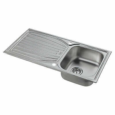 £64.79 • Buy Astracast Kitchen Sink Alto 1 Bowl Stainless Steel Reversible Drainer 980x510mm