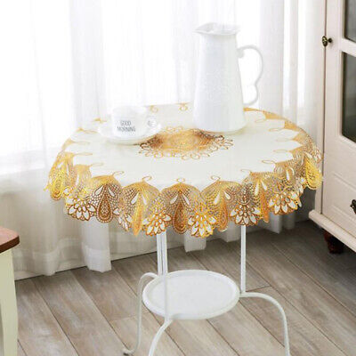 £5.64 • Buy Oil-proof Table Cover Round Tablecloth Coffee Lace Restaurant Wash Tablecloth FI