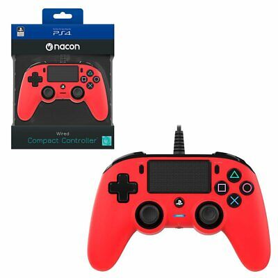 AU67.95 • Buy Nacon Red Wired Compact Controller For PlayStation 4 PS4 NEW