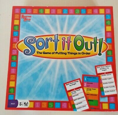 £9.99 • Buy Sort It Out! Putting Things In Order Board Game - University Games