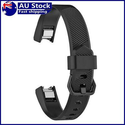 AU9.19 • Buy Silicone Adjustable Watch Band Wrist Strap For Fitbit Alta HR S (Black)