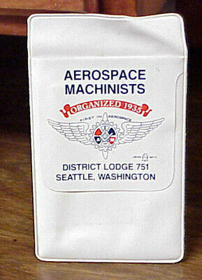 $19.99 • Buy Aerospace Machinists Union Made District Lodge 751 Seattle, Wa. Vintage Pouch Am