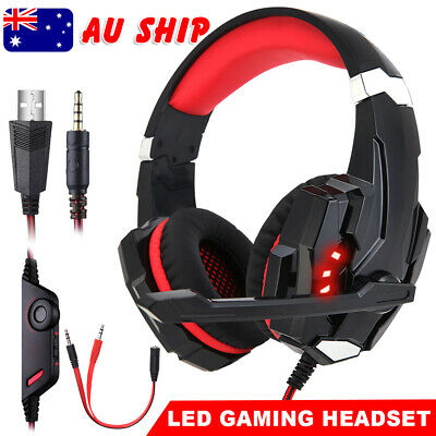AU22.28 • Buy Gaming Headset LED Headphones Earphone With Microphone For Mac PS4 Xbox 3.5mm