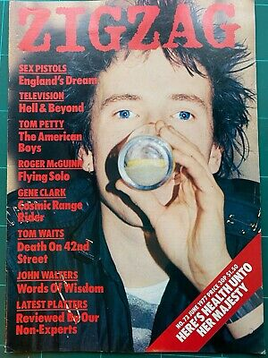 £19.99 • Buy ZigZag #73 June 1977 Sex Pistols Lydon Interview, Television, Tom Waits, Petty,