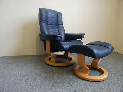 £435 • Buy Ekornes Stressless 'Mayfair' Leather Recliner And Stool Size Small (316)