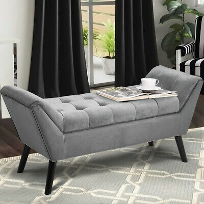 £152.95 • Buy Velvet Chaise Lounge Chair Window Seat Sofa Ottoman Bed End Stool Bench Pouffe