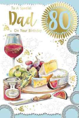 £2.99 • Buy To A Special Dad On Your 80th Birthday Card.  Large Card 9  X 6