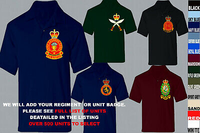 £21.50 • Buy Units A To D Army Royal Navy Air Force Marines Raf Regiment Polo Shirt Xs To 5xl