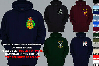 £26.50 • Buy Units A To D Army Royal Navy Air Force Marines Regiment Pullover Hoody Xs To 5xl