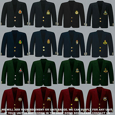 £90 • Buy Units A To D Army Royal Navy Air Force Marines Regiment 8 Button Blazer To 52