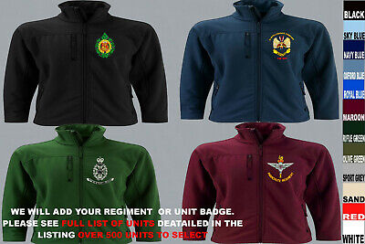 £50 • Buy Units A To D Army Royal Navy Air Force Marines Regiment Softshell Jacket To 5xl