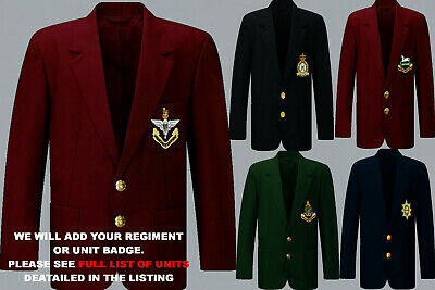 £70 • Buy Units A To D Army Royal Navy Air Force Marines Regiment 2 Button Blazer To 52
