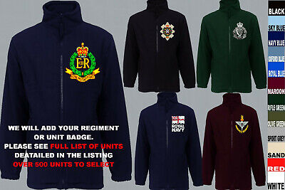 £32 • Buy Units A To D Army Royal Navy Air Force Marines Regiment Fleece Jacket Xs To 5xl