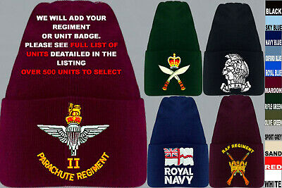 £18.50 • Buy Units A To D Army Royal Navy Air Force Marines Raf Regiment Beanie Wooly Hat