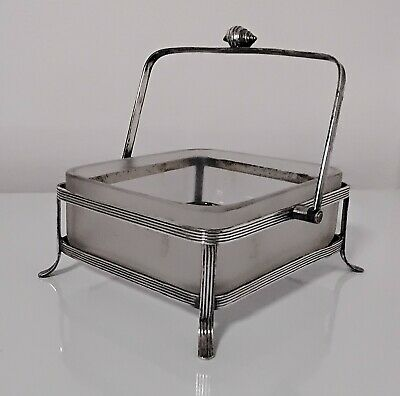 £9.50 • Buy LARGE Walker & Hall Silver Plated Butter Dish With Frosted Glass Liner