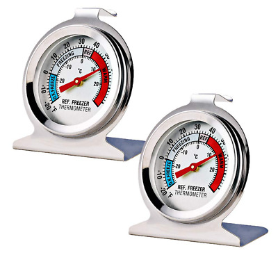 $6.36 • Buy 2 Pack Refrigerator Freezer Thermometer Large Dial Thermometer NEW