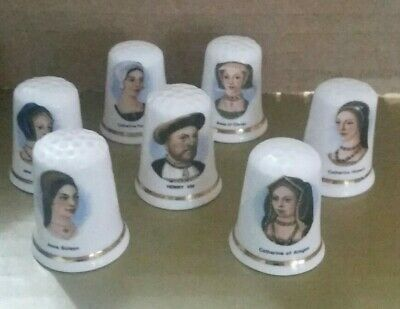 £1.99 • Buy Henry VIII And 6 Wives Fenton Bone China Thimbles Complete Set. Collectable.