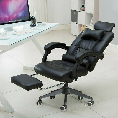 £59.99 • Buy Luxury Massage Computer Chair Office Gaming Swivel Recliner Leather Executive UK