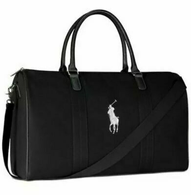 $46.90 • Buy POLO Ralph Lauren Black Duffel Bag NEW Gym Carry-On Weekender Luggage Canvas