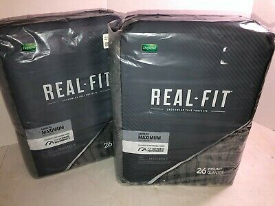 $36.99 • Buy Depend Real Fit For Men L/XL 52 Ct Incontinence Underwear Grey