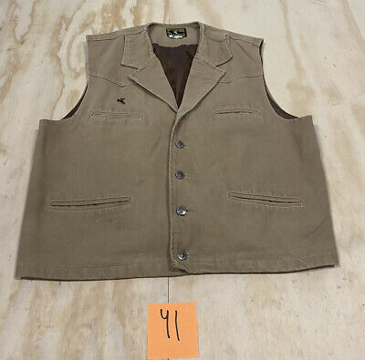$24.99 • Buy Wyoming Traders Men's Tan Canvas Duck Button Vest Size Large