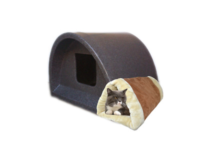 £61 • Buy Wow Only £61 Inc Self Heat Pad/ Tunnel Indoor Cat Shelter / Kennel Cat House