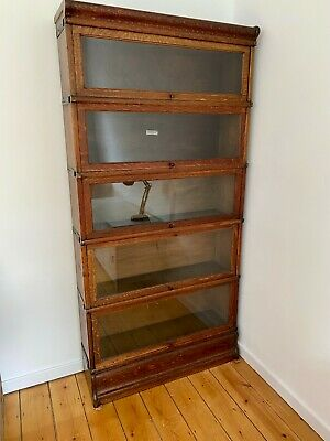 £550 • Buy Globe Wernicke Antique Glass-fronted Oak Library (or Barrister's) Bookcase