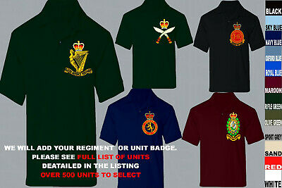 £21.50 • Buy Units R To S Army Royal Navy Air Force Marines Raf Regiment Polo Shirt Xs To 5xl