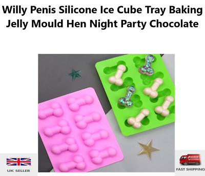 £2.99 • Buy Willy Penis Silicone Ice Cube Tray Baking Jelly Mould Hen Night Party Chocolate