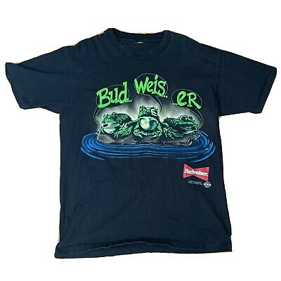 $ CDN56 • Buy Vintage Budweiser Frogs T Shirt Size Large Your Pad Or Mine 1995