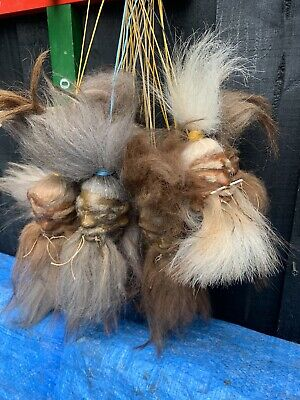 £21 • Buy Genuine Skin And Hair Shrunken Head From Ecuador Oddity Ready To Hang With Spike