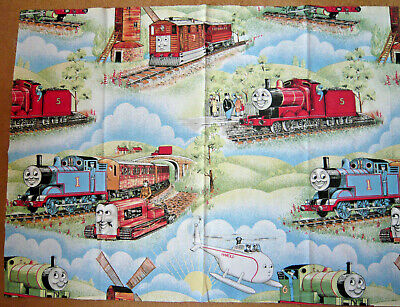 £6.20 • Buy VINTAGE THOMAS THE TANK ENGINE With HAROLD REMNANT 31 X21   FQ FAT QUARTER