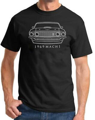 $23 • Buy 1969 Ford Mach 1 Mustang Classic Front End Design Tshirt NEW