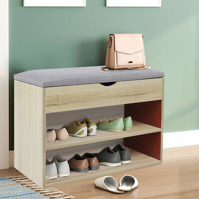 £33.29 • Buy Shoes Cabinet Bench Hidden Storage Padded Seat Organiser