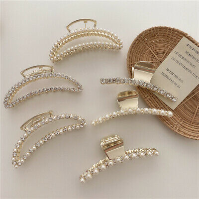AU5.85 • Buy Large Metal Hair Claw Clips Clamp Accessories Hairpin Grip Jaw Barrette Top Claw