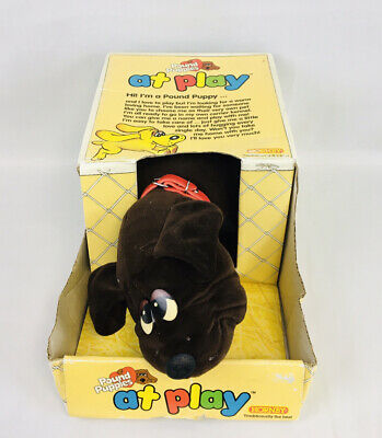 """£24.99 • Buy Hornby Pound Puppies Vintage 1984 Brown Adult Dog - 15"""", Boxed"""