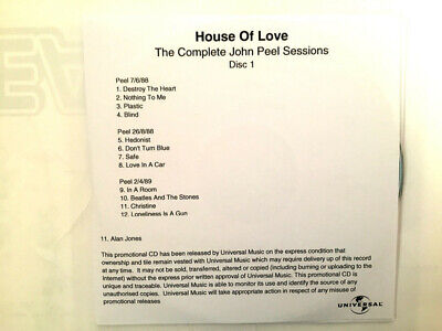 £30 • Buy The House Of Love The Complete John Peel Sessions Promo