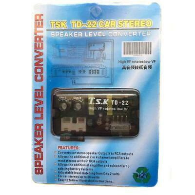 £5.65 • Buy Speaker Line To RCA HI / LOW Converter Adapter Line Level Output Car Audio Video