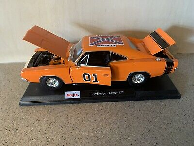 """£107.88 • Buy Custom The Dukes Of Hazzard """"general Lee   1969 Dodge Charger Rt  1:18 Rare!!!"""