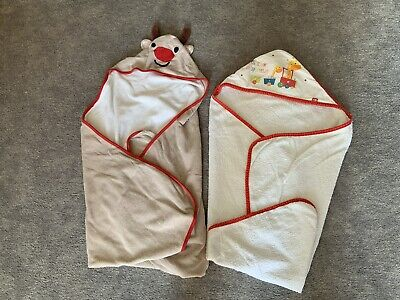 £7 • Buy Mothercare Little Circus Baby Hooded Bath Towel & M&S Hooded Towel