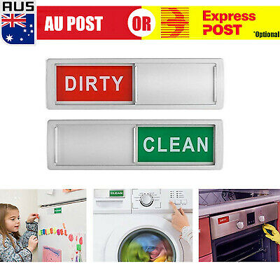 AU8.59 • Buy Magnet Clean Dirty Dishwasher Indicator Sign Non-Scratch Magnetic Backing O