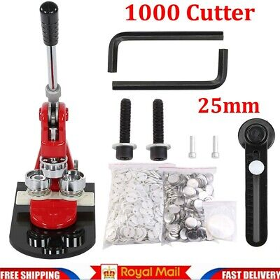 £65.78 • Buy Badge Maker Machine Making Pin Button Badges Punch Press 25mm +1000 Cutter Kits