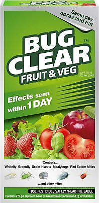 £10.99 • Buy Bug Clear For Fruit Veg Concentrate Pesticide Bug Killer Aphid Greenfly 250ml