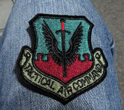 $5.49 • Buy U.S. Military Tactical Air Command Iron On Patch Air Force Bomber Sword Wings P4