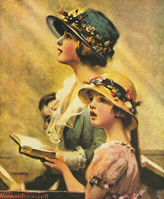 $ CDN4.96 • Buy MOTHER AND DAUGHTER SINGING NORMAN ROCKWELL 8x10 Poster FINE ART Print  ARTIST